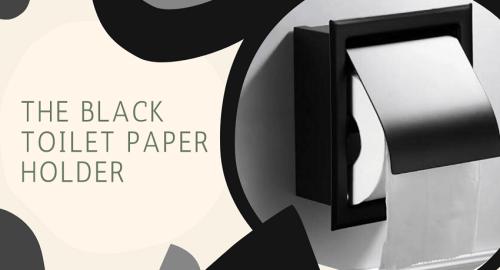 The Black Toilet Paper Holder