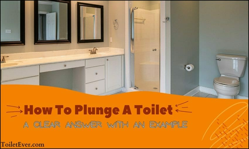 how to plunge a toilet