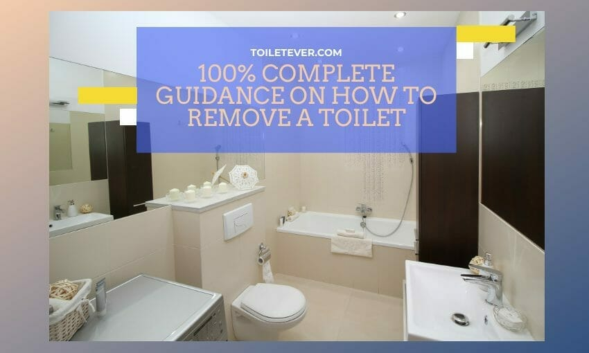 how to remove a toilet